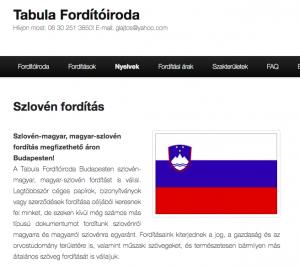 szlovén fordítás